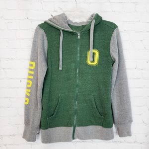 Fanatics Oregon Ducks Full Zip Sweater size S